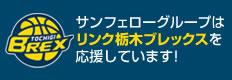 サンフェローグループはリンク栃木ブレックスを応援しています!